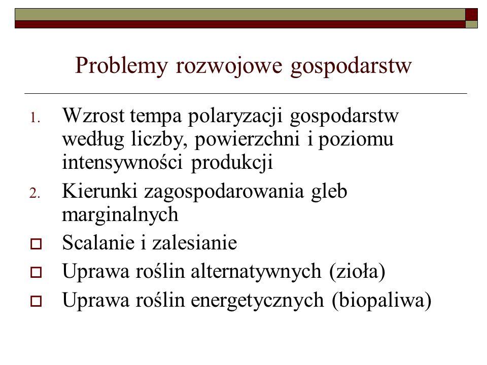 Problemy rozwojowe gospodarstw 1.