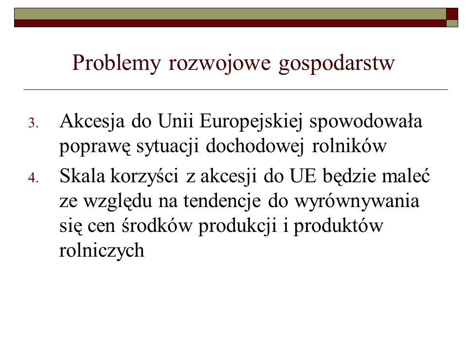 Problemy rozwojowe gospodarstw 3.