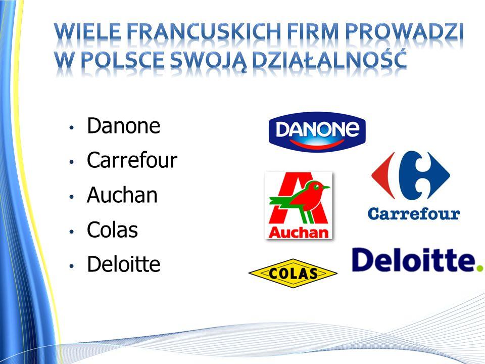 Danone Carrefour Auchan Colas Deloitte