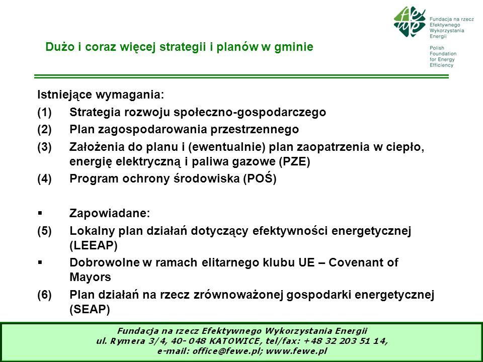 3 Dużo i coraz więcej strategii i planów w gminie Istniejące wymagania: (1)Strategia rozwoju społeczno-gospodarczego (2)Plan zagospodarowania przestrz