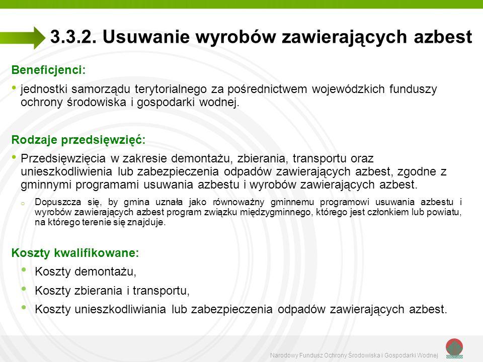 Narodowy Fundusz Ochrony Środowiska i Gospodarki Wodnej 3.3.2.