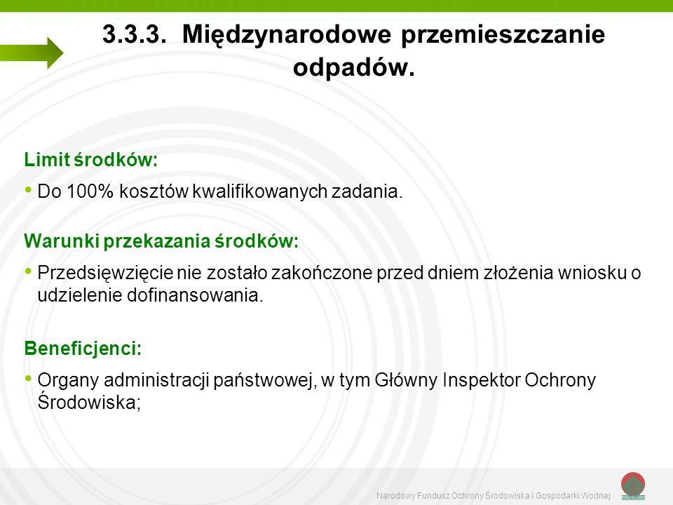 Narodowy Fundusz Ochrony Środowiska i Gospodarki Wodnej 3.3.3.