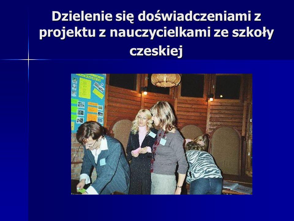Dzielenie się doświadczeniami z projektu z nauczycielkami ze szkoły czeskiej