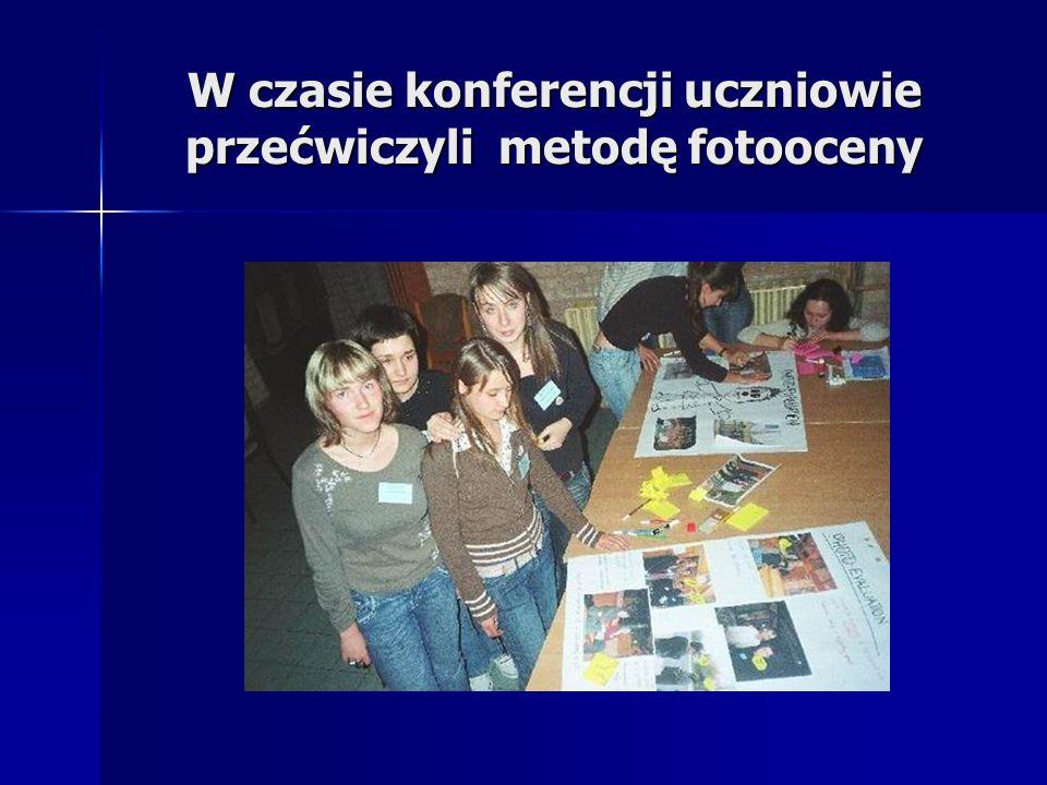 W czasie konferencji uczniowie przećwiczyli metodę fotooceny