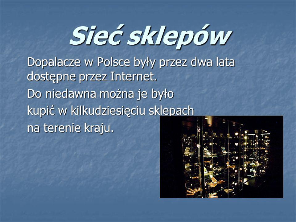 Sieć sklepów Dopalacze w Polsce były przez dwa lata dostępne przez Internet.