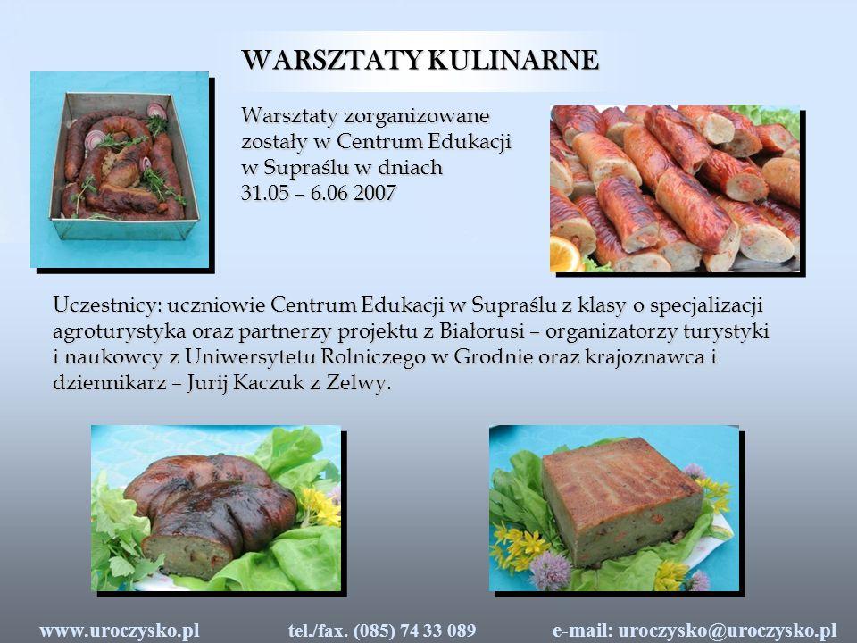 WIECZÓR LITERACKI e-mail: uroczysko@uroczysko.pl tel./fax.