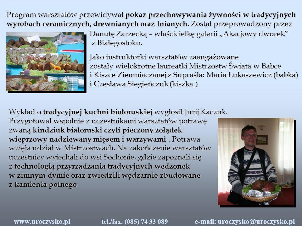 Efektem kwerendy archiwalnej oraz Warsztatów Kulinarnych jest polsko-białoruska publikacja pt.
