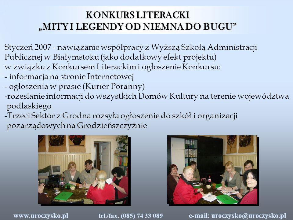 e-mail: uroczysko@uroczysko.pl tel./fax. (085) 74 33 089 www.uroczysko.pl
