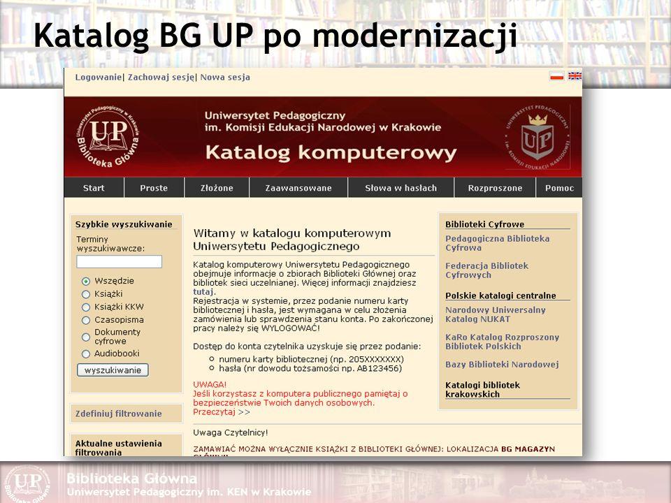 Katalog BG UP po modernizacji