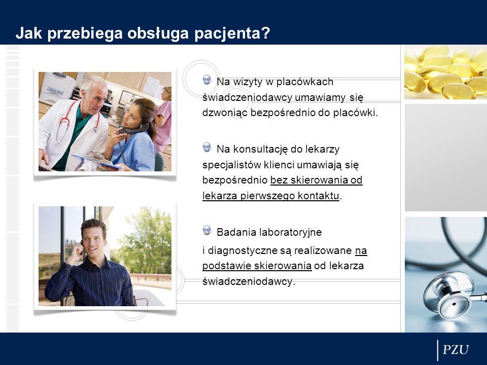 Jak przebiega obsługa pacjenta? Na wizyty w placówkach świadczeniodawcy umawiamy się dzwoniąc bezpośrednio do placówki. Na konsultację do lekarzy spec