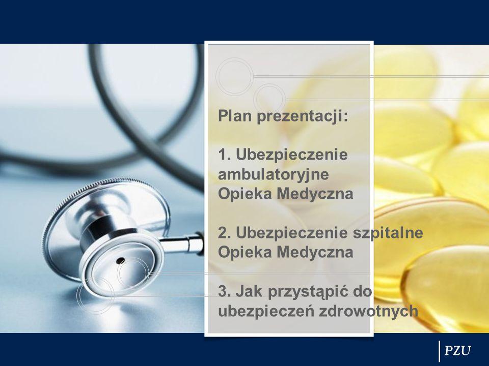 Plan prezentacji: 1. Ubezpieczenie ambulatoryjne Opieka Medyczna 2. Ubezpieczenie szpitalne Opieka Medyczna 3. Jak przystąpić do ubezpieczeń zdrowotny