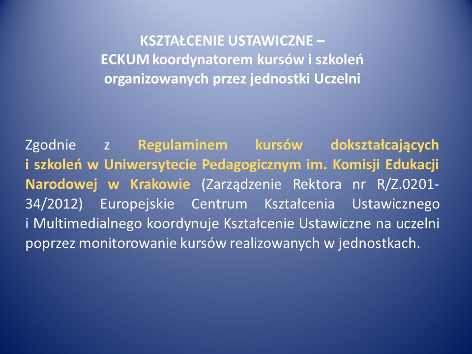 Kursy ECKUM