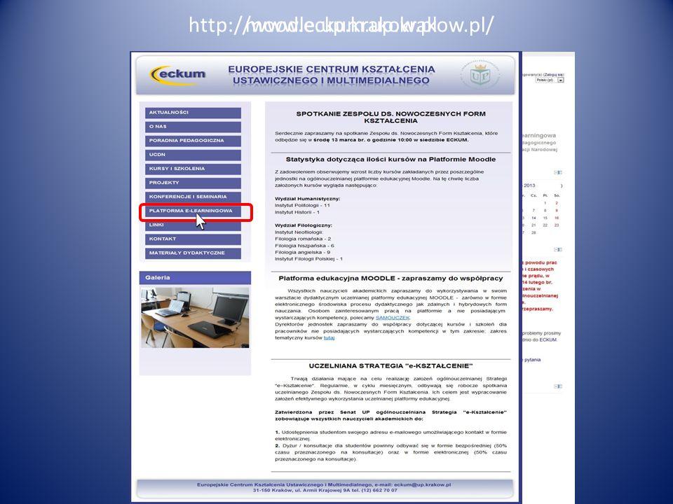 Koordynacja kształcenia ustawicznego (kursów i szkoleń) prowadzonych w Uczelni m.in. poprzez ewidencjonowanie realizowanych form w obecnej chwili jest