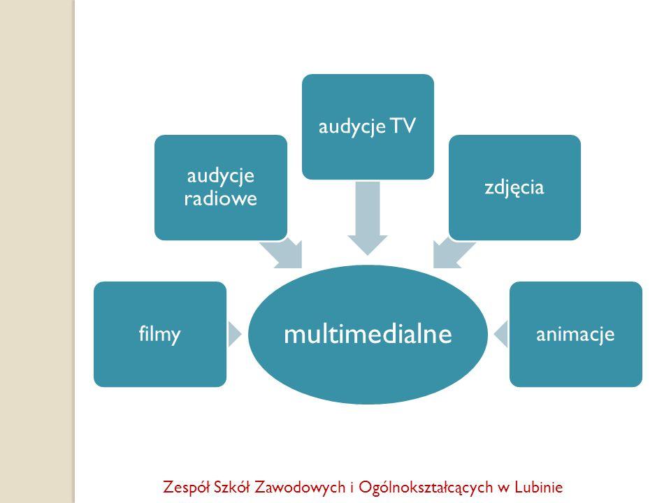 multimedialne filmy audycje radiowe audycje TVzdjęciaanimacje Zespół Szkół Zawodowych i Ogólnokształcących w Lubinie