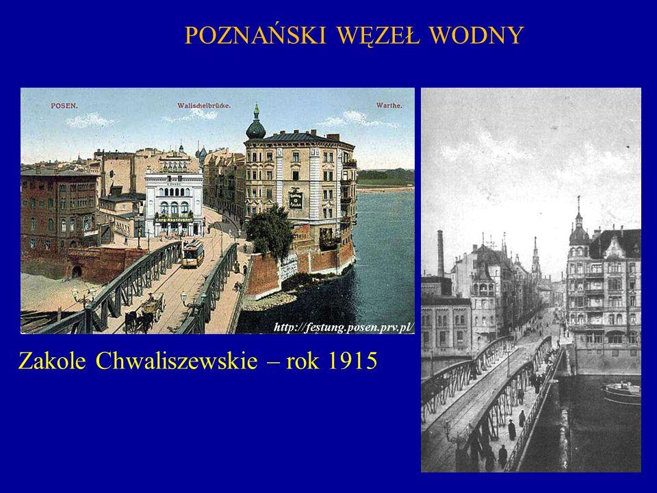POZNAŃSKI WĘZEŁ WODNY Zakole Chwaliszewskie – rok 1915