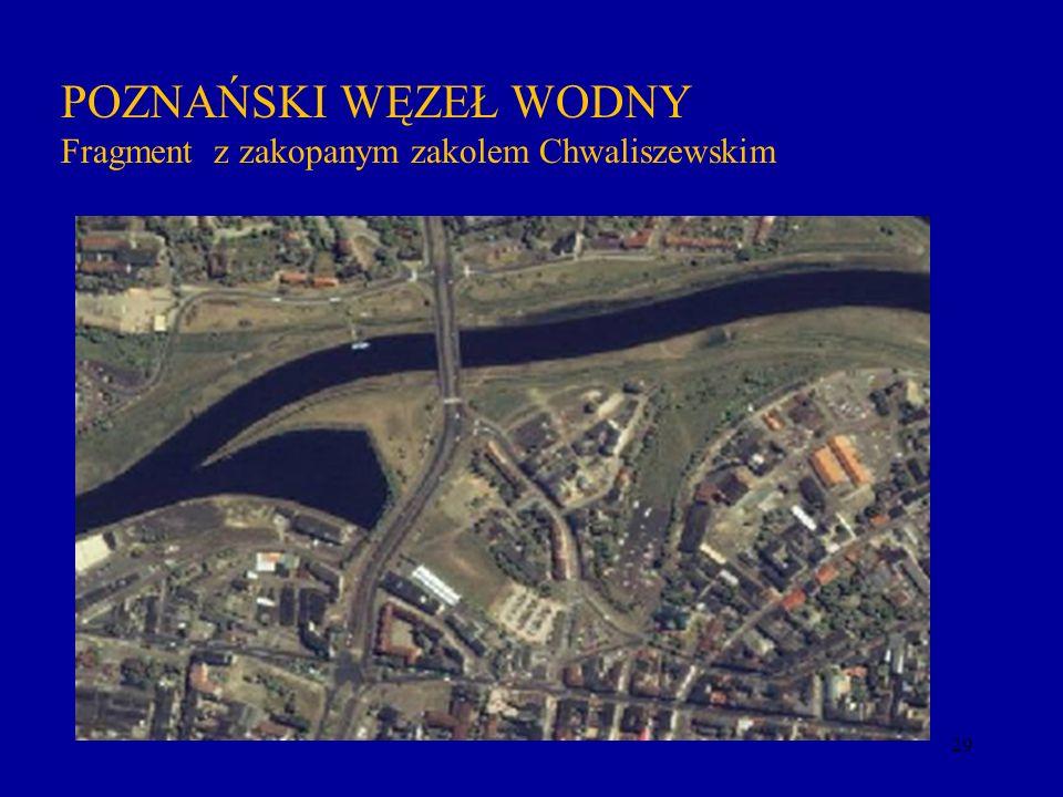 29 POZNAŃSKI WĘZEŁ WODNY Fragment z zakopanym zakolem Chwaliszewskim