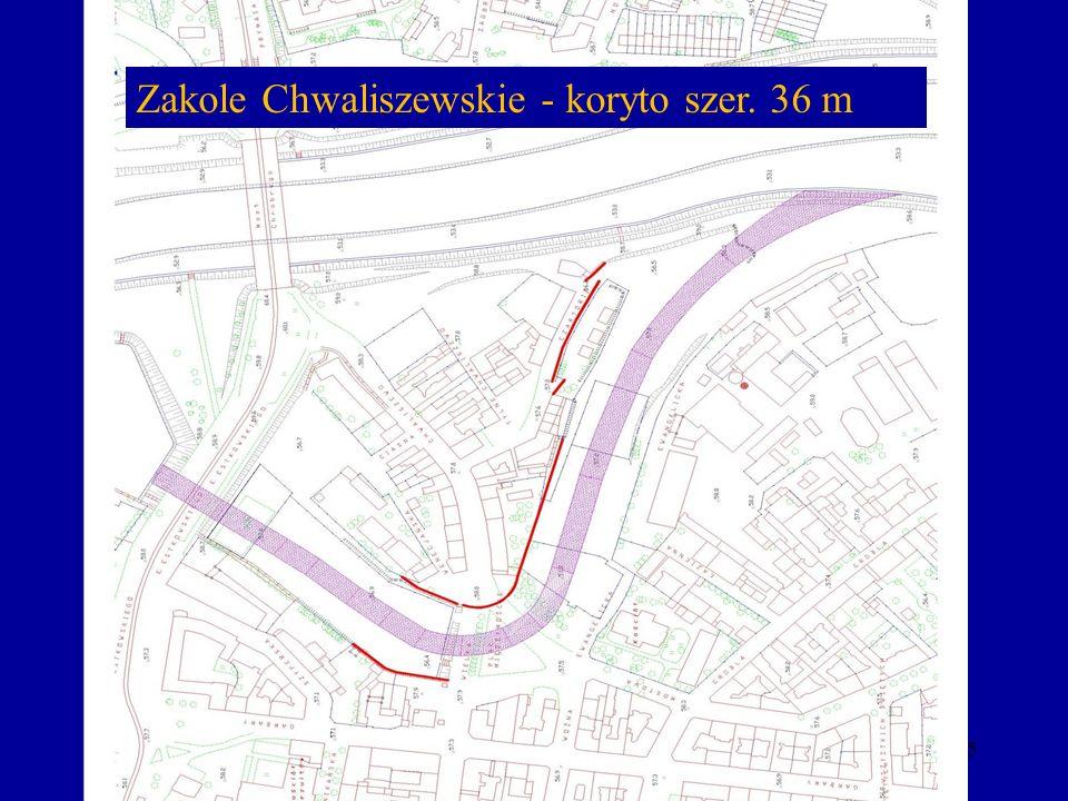 45 Zakole Chwaliszewskie - koryto szer. 36 m