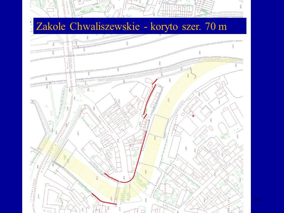 46 Zakole Chwaliszewskie - koryto szer. 70 m