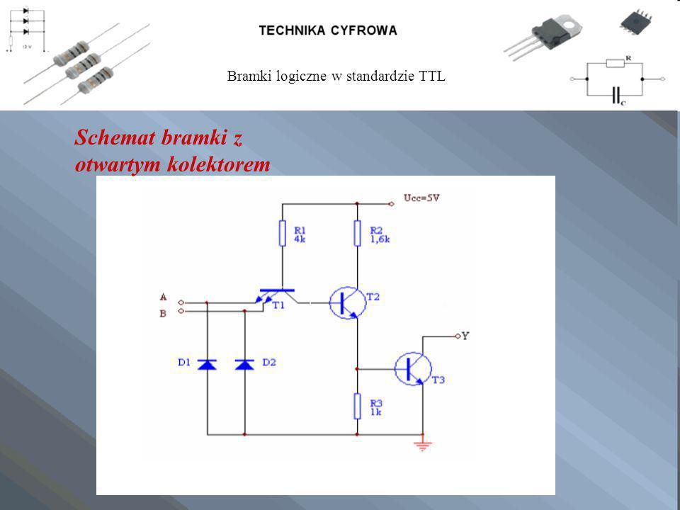 Schemat bramki z otwartym kolektorem Bramki logiczne w standardzie TTL