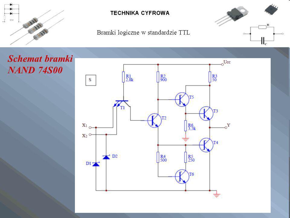 Schemat bramki NAND 74S00 Bramki logiczne w standardzie TTL