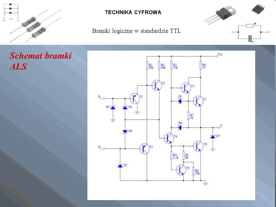 Schemat bramki ALS Bramki logiczne w standardzie TTL