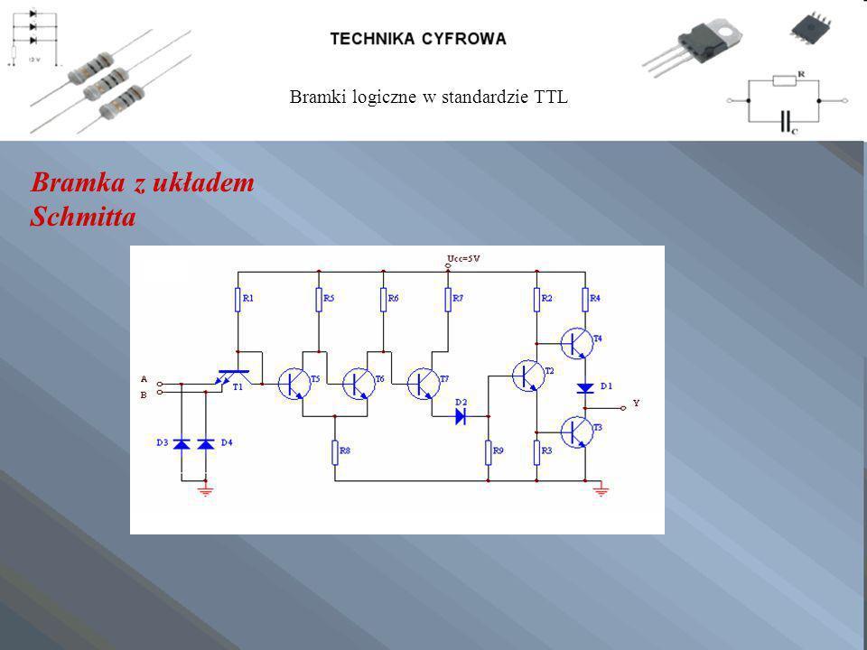 Bramka z układem Schmitta Bramki logiczne w standardzie TTL