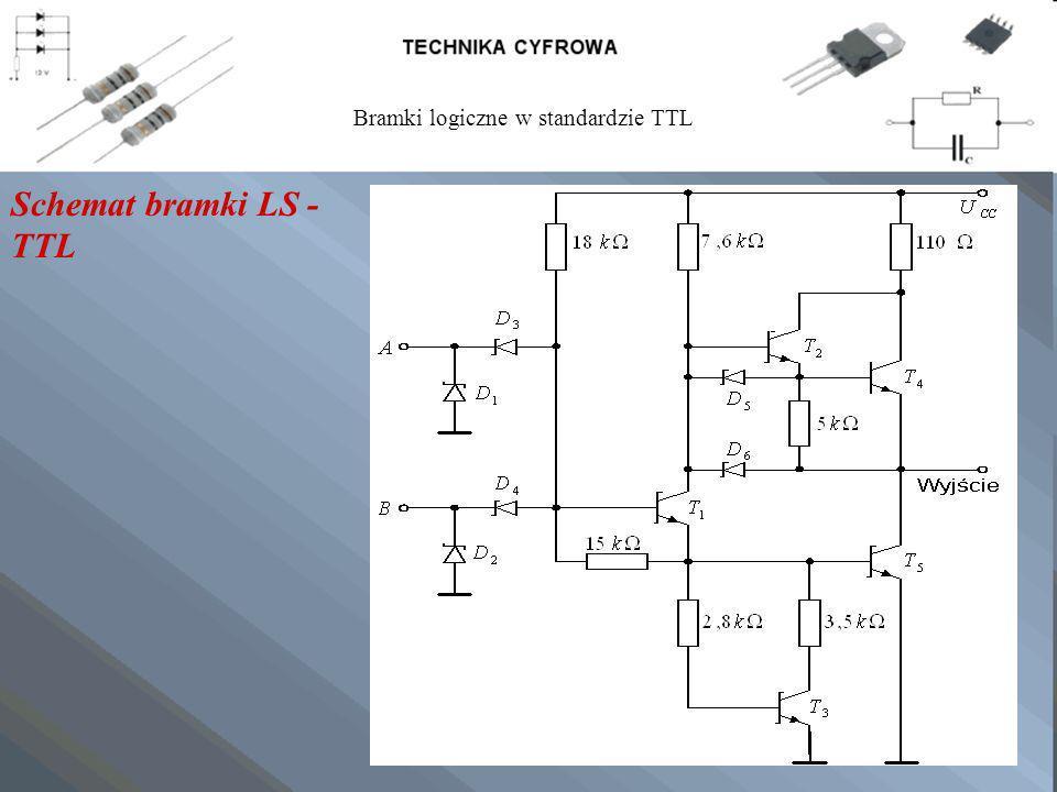 Schemat bramki LS - TTL Bramki logiczne w standardzie TTL