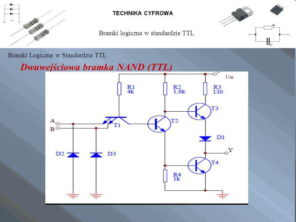 Dwuwejściowa bramka NAND (TTL) Bramki Logiczne w Standardzie TTL Bramki logiczne w standardzie TTL