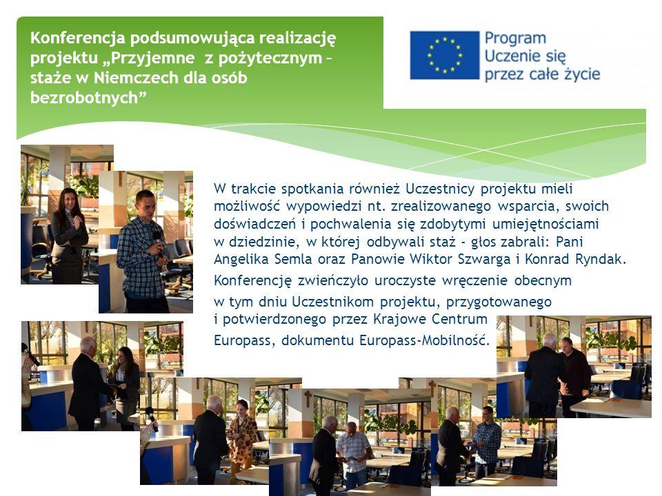 W trakcie spotkania również Uczestnicy projektu mieli możliwość wypowiedzi nt. zrealizowanego wsparcia, swoich doświadczeń i pochwalenia się zdobytymi