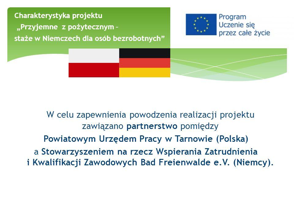 W celu zapewnienia powodzenia realizacji projektu zawiązano partnerstwo pomiędzy Powiatowym Urzędem Pracy w Tarnowie (Polska) a Stowarzyszeniem na rze