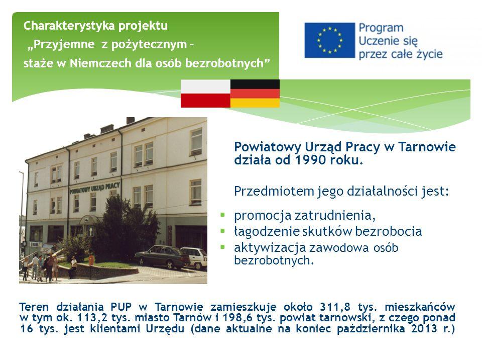Powiatowy Urząd Pracy w Tarnowie działa od 1990 roku. Przedmiotem jego działalności jest: promocja zatrudnienia, łagodzenie skutków bezrobocia aktywiz