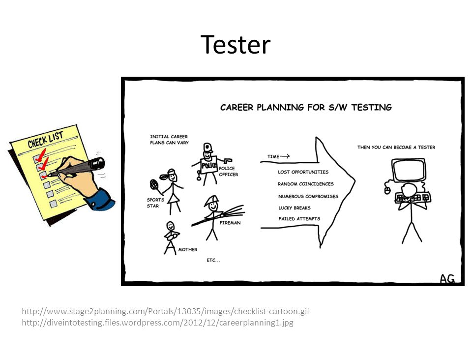 Tester http://www.stage2planning.com/Portals/13035/images/checklist-cartoon.gif http://diveintotesting.files.wordpress.com/2012/12/careerplanning1.jpg