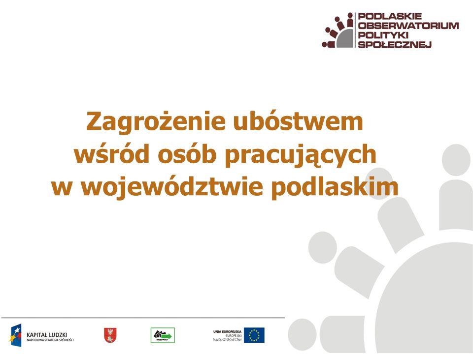 Zagrożenie ubóstwem wśród osób pracujących w województwie podlaskim