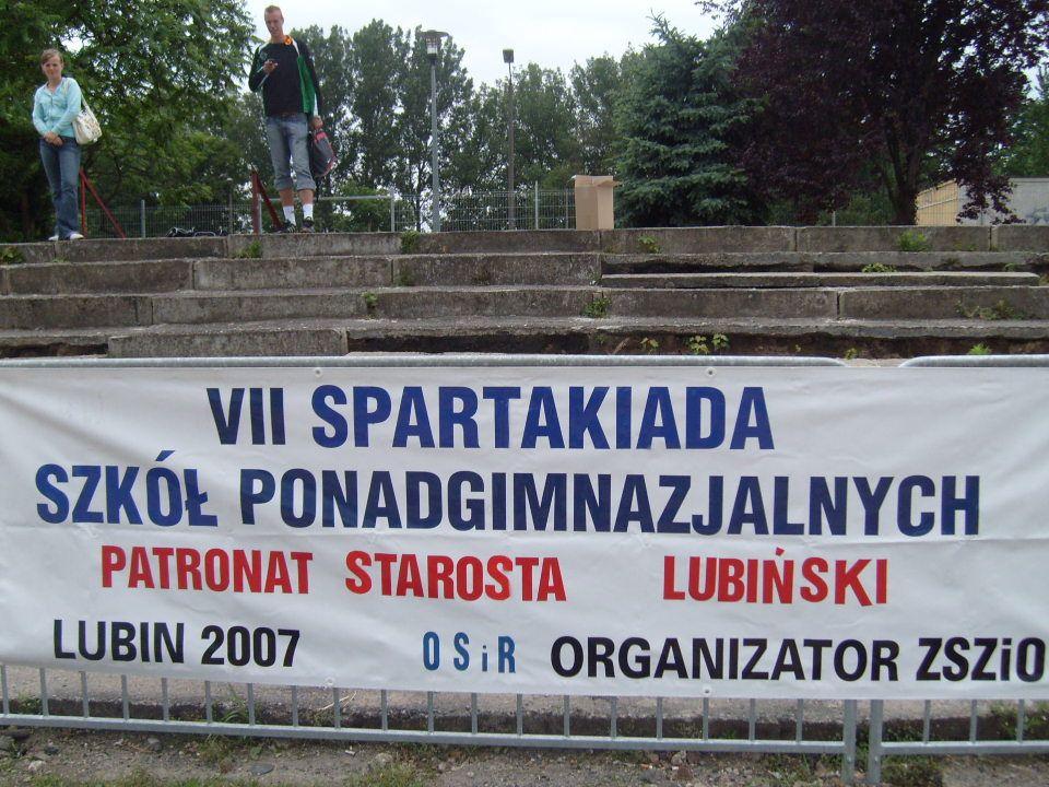 31 maja 2007 roku na stadionie OSIR-u w Lubinie odbyła się VII Spartakiada Szkół Ponadgimnazjalnych Powiatu Lubińskiego