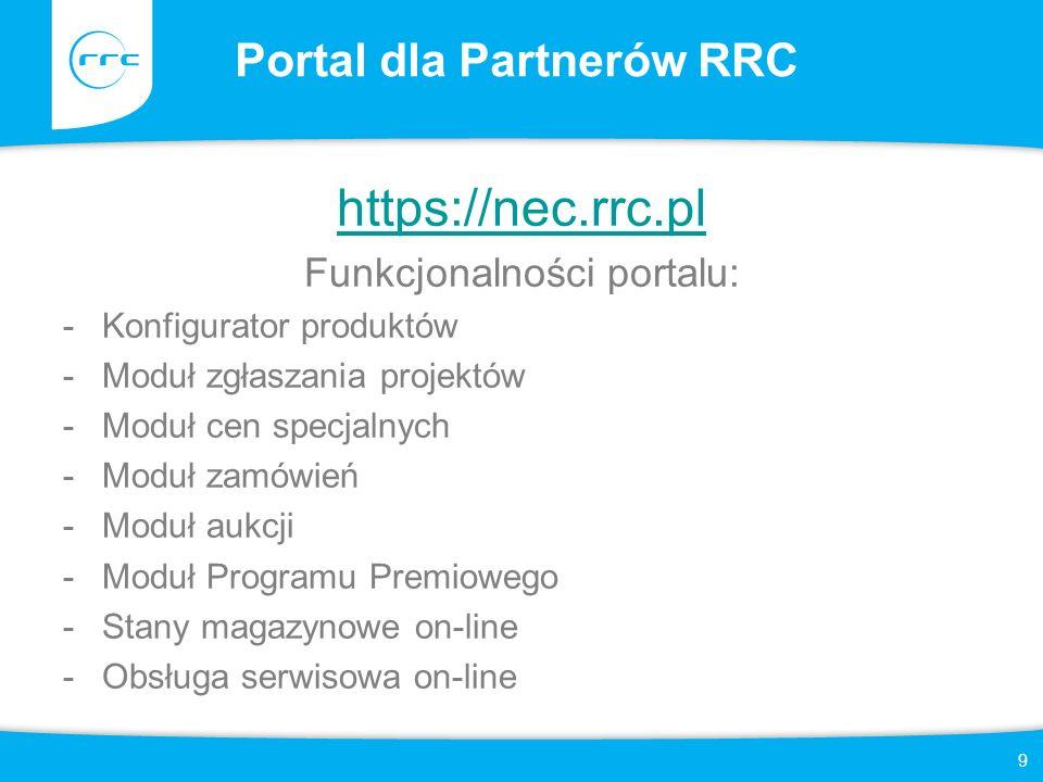 Funkcjonalność Portalu RRC 10