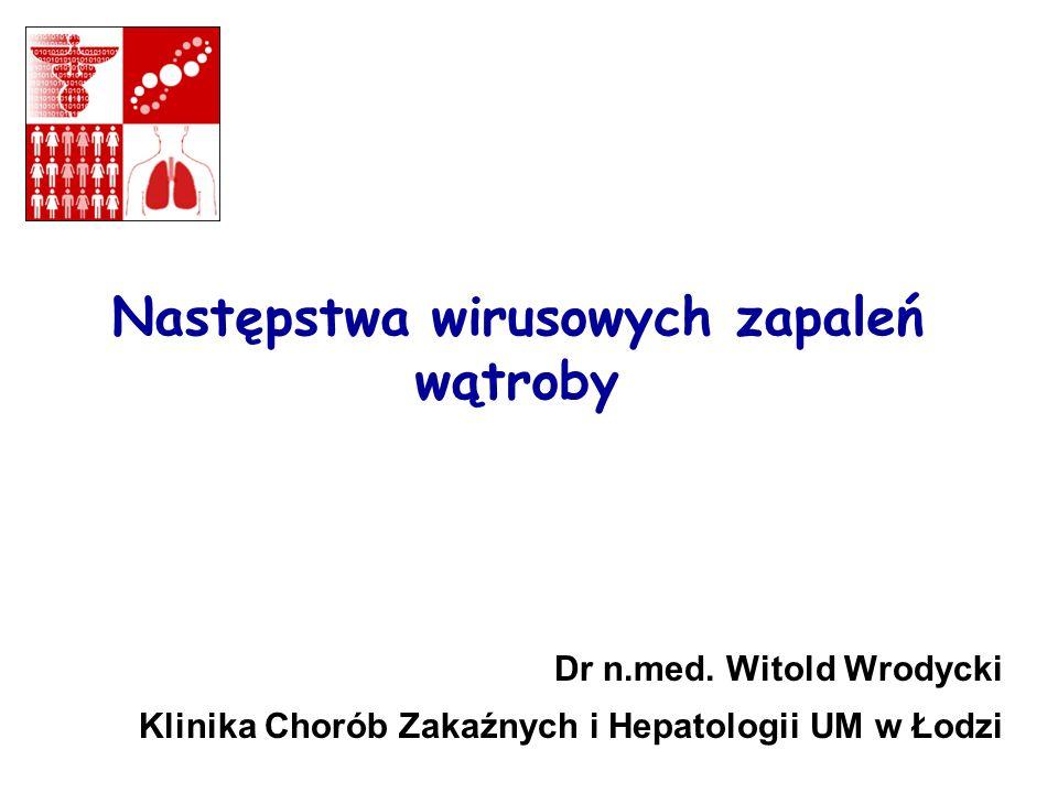 Następstwa wirusowych zapaleń wątroby Dr n.med. Witold Wrodycki Klinika Chorób Zakaźnych i Hepatologii UM w Łodzi