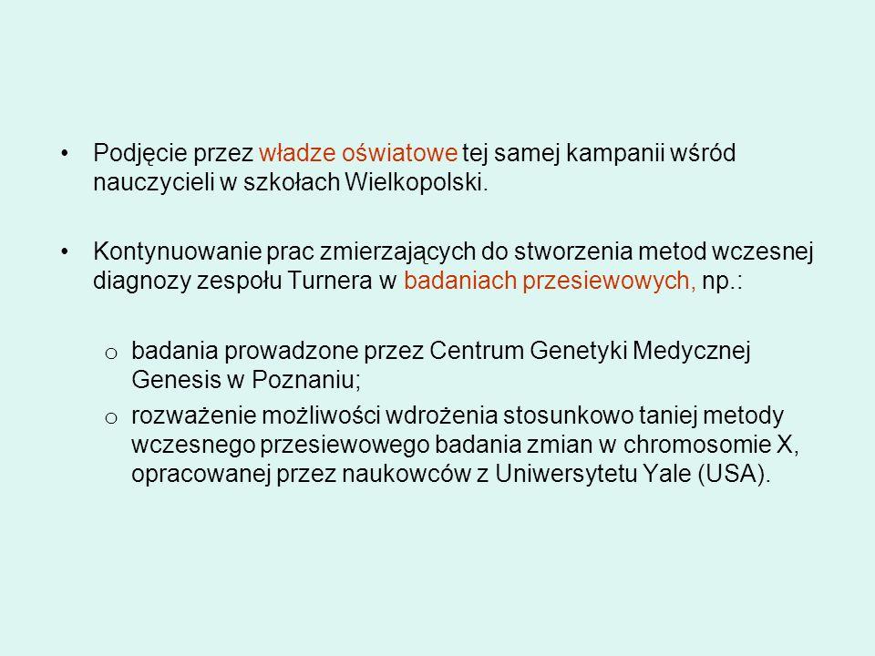 Podjęcie przez władze oświatowe tej samej kampanii wśród nauczycieli w szkołach Wielkopolski. Kontynuowanie prac zmierzających do stworzenia metod wcz
