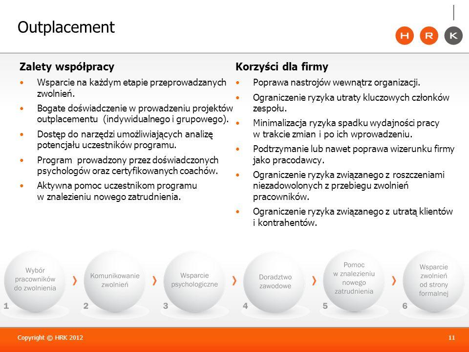 Outplacement Zalety współpracy Wsparcie na każdym etapie przeprowadzanych zwolnień. Bogate doświadczenie w prowadzeniu projektów outplacementu (indywi