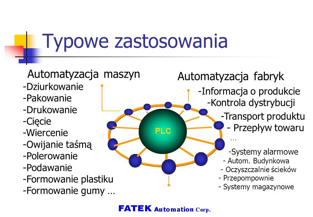 Typowe zastosowania Automatyzacja maszyn -Dziurkowanie -Pakowanie -Drukowanie -Cięcie -Wiercenie -Owijanie taśmą -Polerowanie -Podawanie -Formowanie p