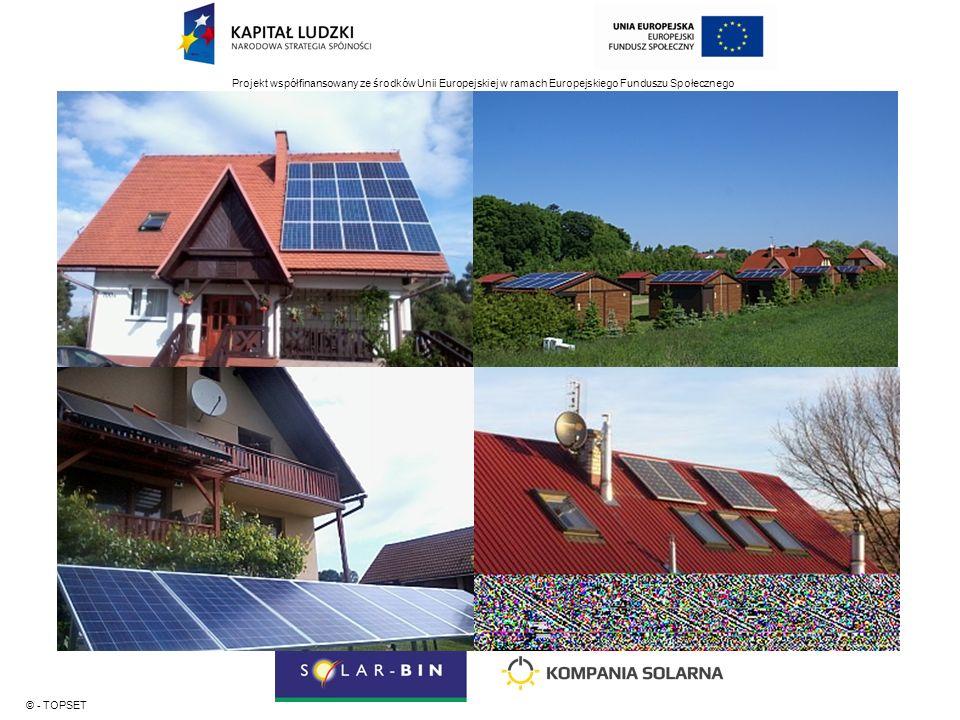 Projekt współfinansowany ze środków Unii Europejskiej w ramach Europejskiego Funduszu Społecznego © - TOPSET