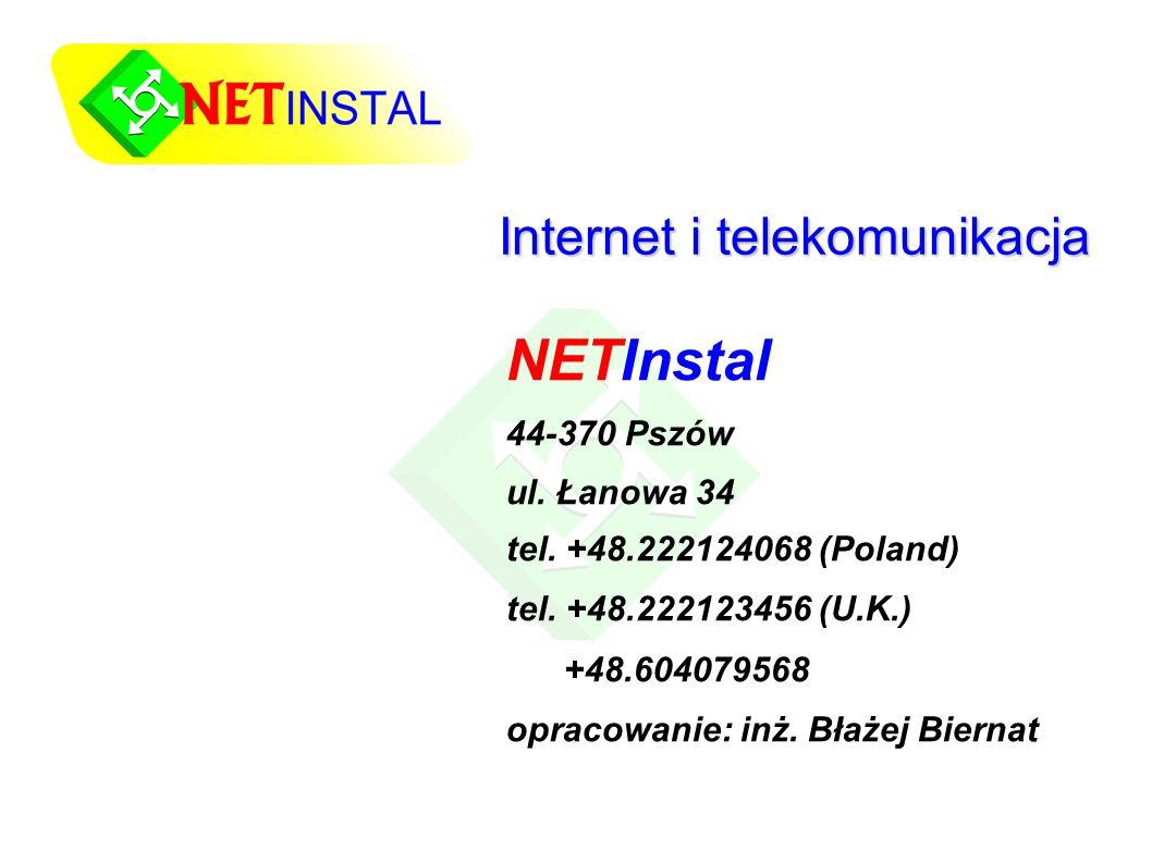 Internet i telekomunikacja NETInstal 44-370 Pszów ul.