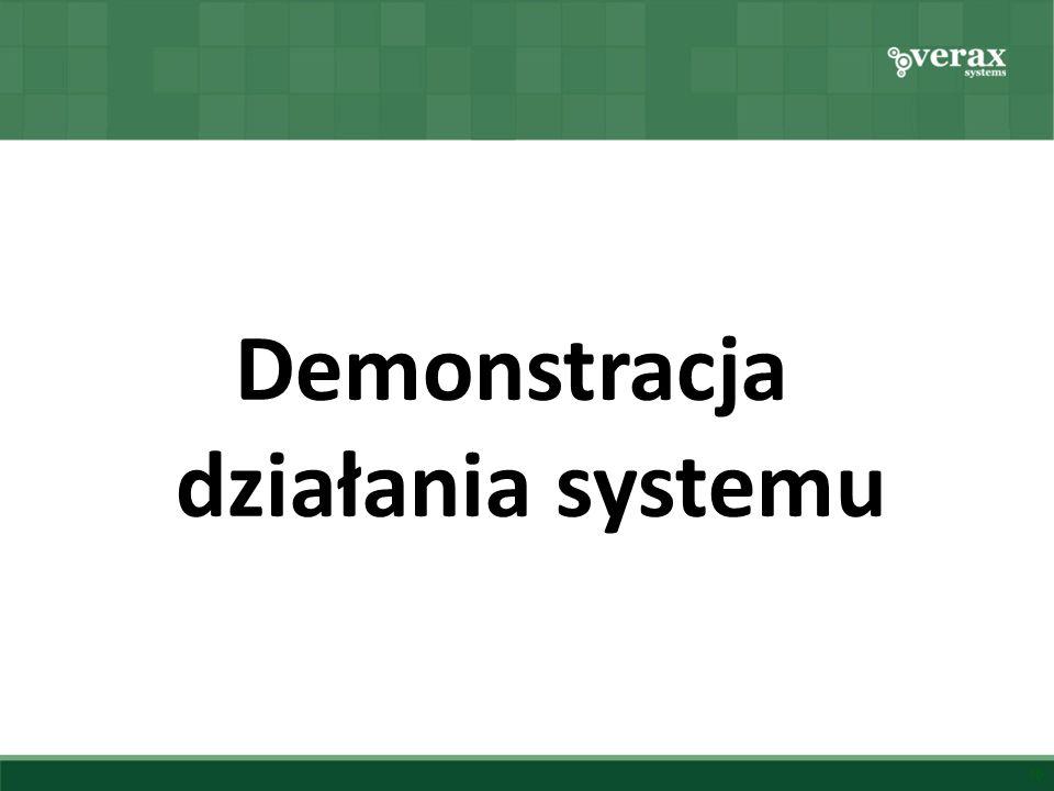 Demonstracja działania systemu 10