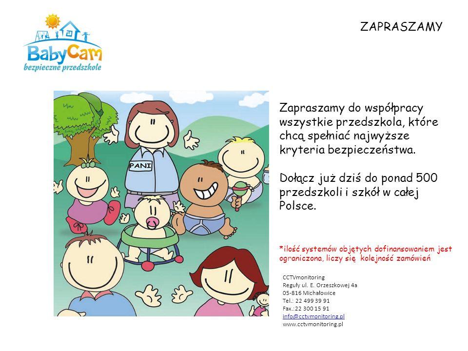Zapraszamy do współpracy wszystkie przedszkola, które chcą spełniać najwyższe kryteria bezpieczeństwa.