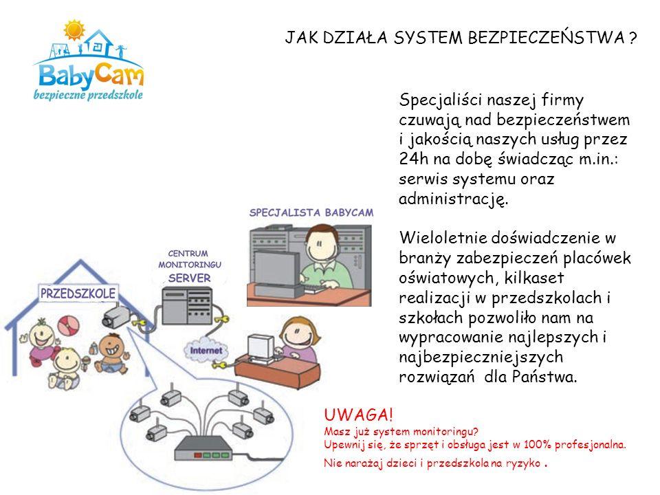 JAK DZIAŁA SYSTEM BEZPIECZEŃSTWA ? Specjaliści naszej firmy czuwają nad bezpieczeństwem i jakością naszych usług przez 24h na dobę świadcząc m.in.: se