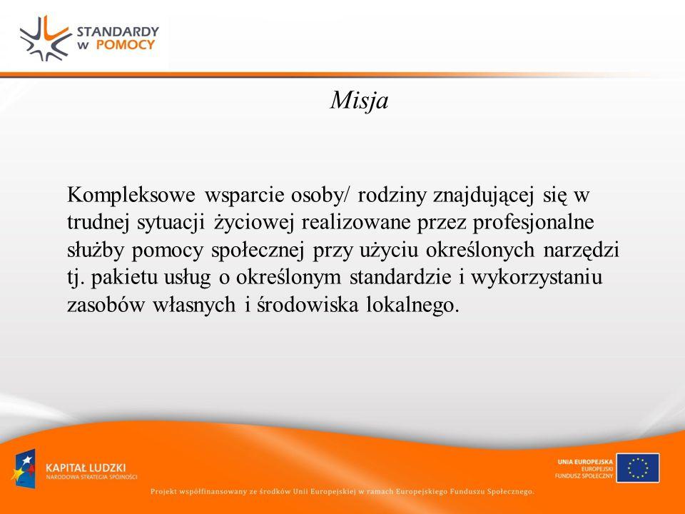 GMINA/POWIAT obszar wspólny dla realizacji określonego pakietu usług MOPS/MOPR Relacje MOPS/MOPR i Wydziału Urzędu Miasta WYDZIAŁ UM WSPÓŁPRACA