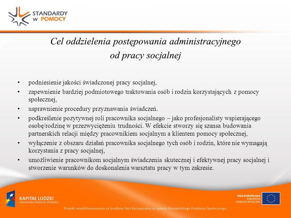 Przedmiot postępowania administracyjnego w sprawie o świadczenia pomocy społecznej czy istnieją powody trudnej sytuacji życiowej (art.