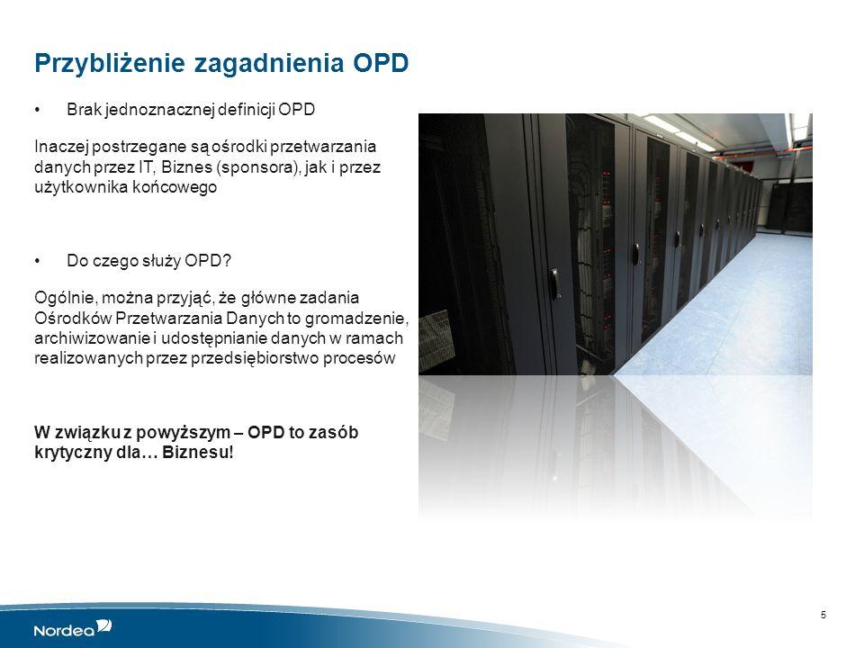 Dane i dostępność Dane w OPD W większości przypadków są to dane krytyczne i niezbędne dla funkcjonowania przedsiębiorstwa czy państwa.