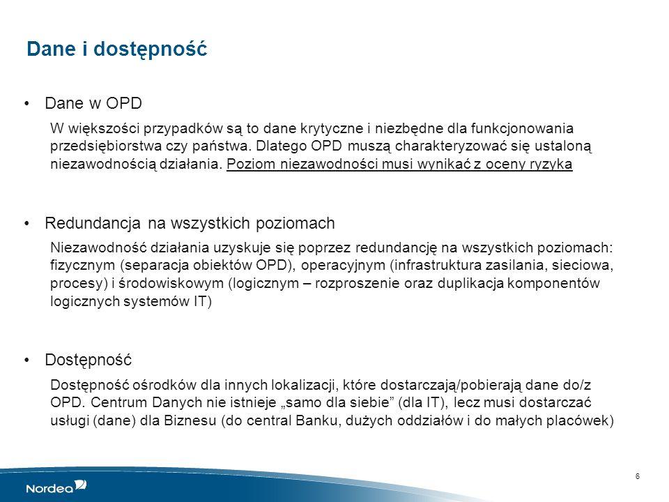 OPD w Banku Podstawowe zadania OPD z punktu widzenia Banku: Zbieranie danych Przesyłanie danych Gromadzenie i przetwarzanie danych Udostępnianie danych Dostarczanie usług IT (dostęp do systemów wspomagających procesy biznesowe) Zabezpieczenie ciągłości działania procesów krytycznych Biznesu, poprzez gwarancję dostępności zasobów (systemy i dane) 7