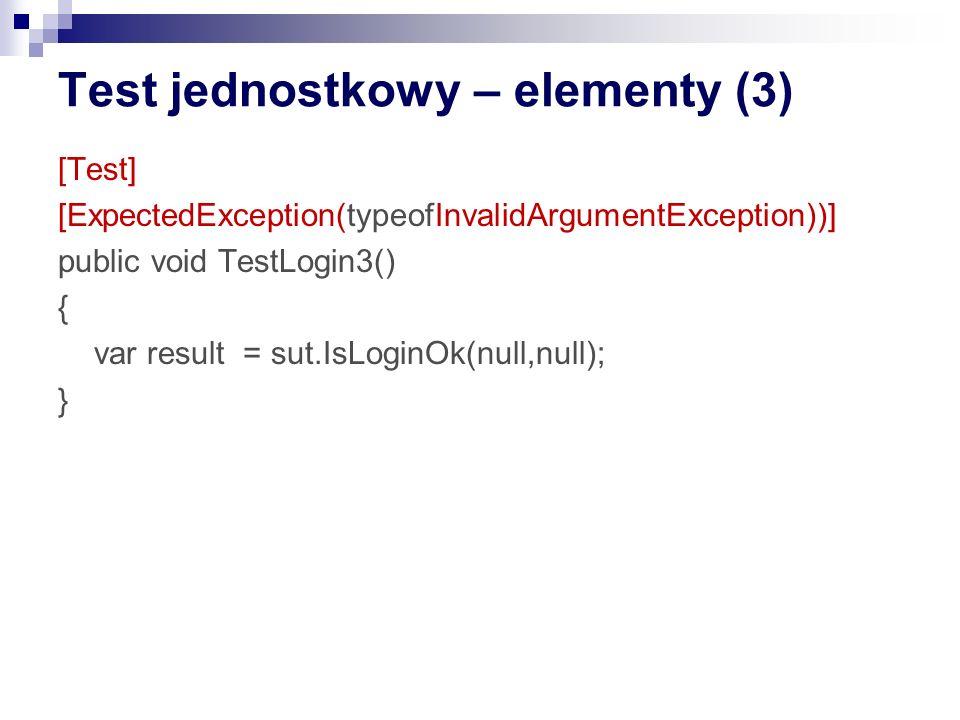 (TJ) Filozofia: definiowania testów Jeden po drugim: przyrostowy development Wszystkie na raz: np definiujemy pojedyncze user story jako sekwencje testów