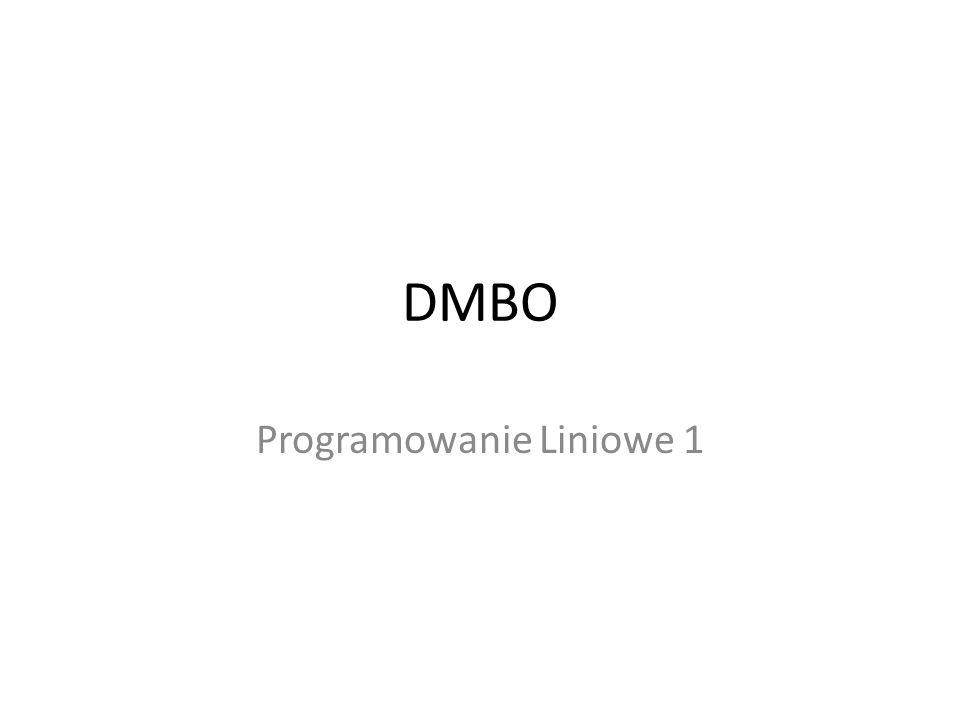 DMBO Programowanie Liniowe 1
